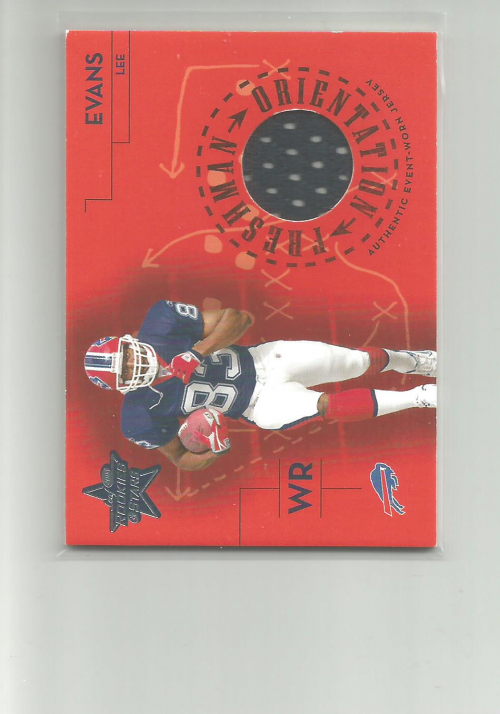 2004 Leaf Rookies and Stars Freshman Orientation Jersey #FO11 Lee Evans