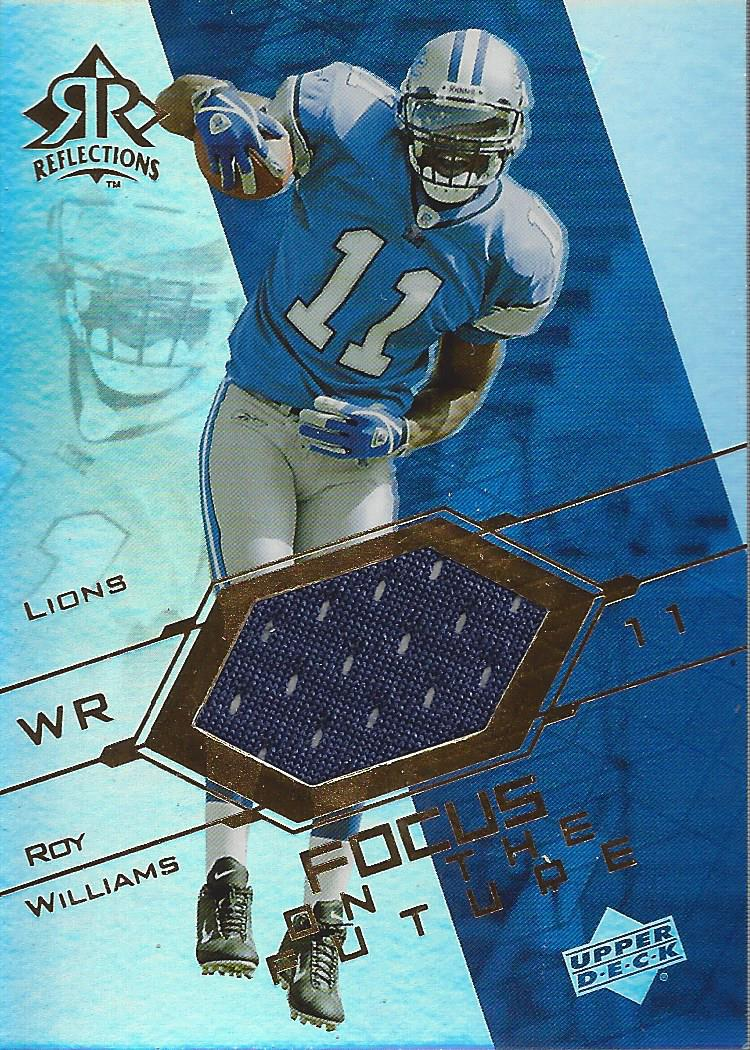 2004 Reflections Focus on the Future Jerseys Gold #FORO Roy Williams WR