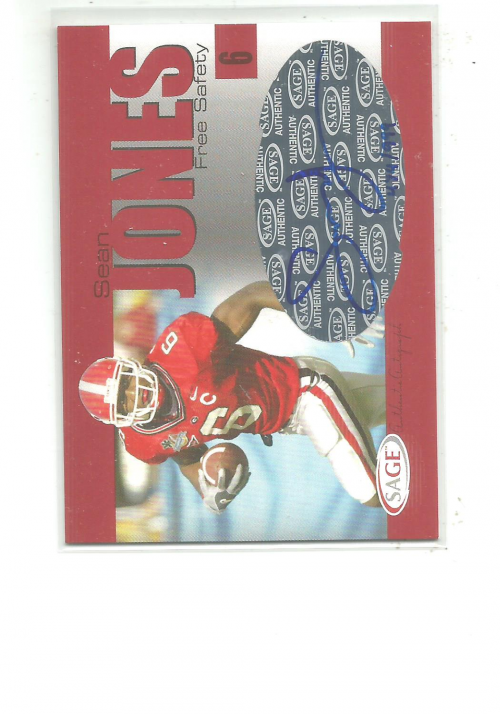 2004 SAGE Autographs Red #A23 Sean Jones/999