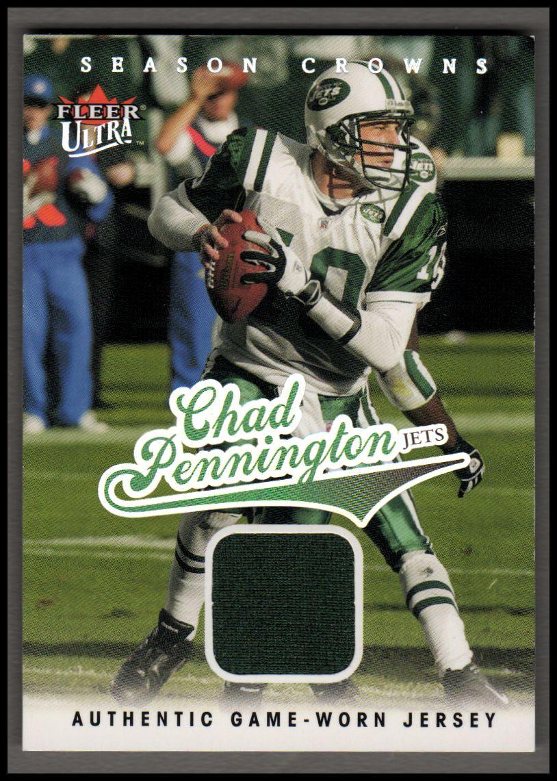 cd9f7890d83 2004 Ultra Season Crowns Game Used Silver #24 Chad Pennington