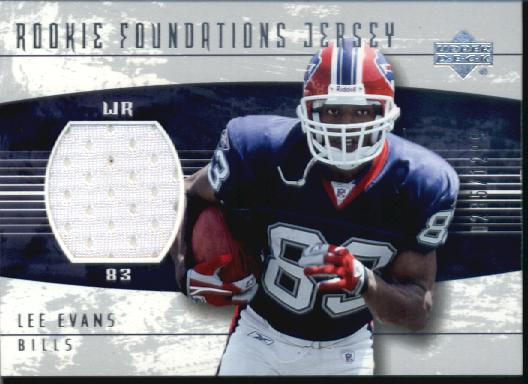 2004 Upper Deck Foundations Rookie Foundations Patch #253P Lee Evans