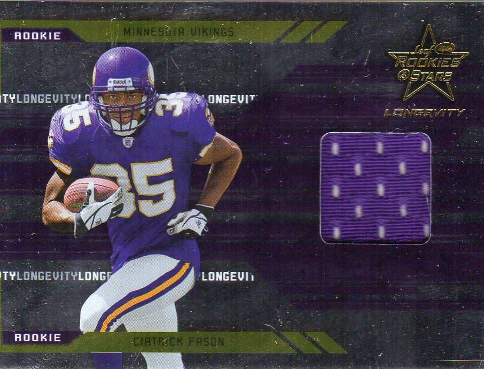 2005 Leaf Rookies and Stars Longevity #259 Ciatrick Fason JSY RC