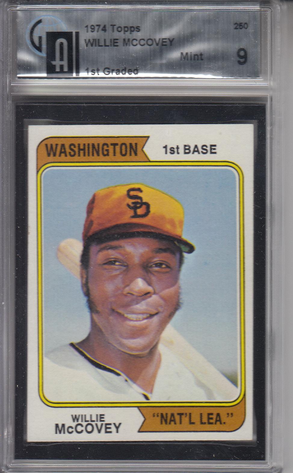 Washington San Diego Padres Baseball Card 1974 Topps #250.2 Willie McCovey