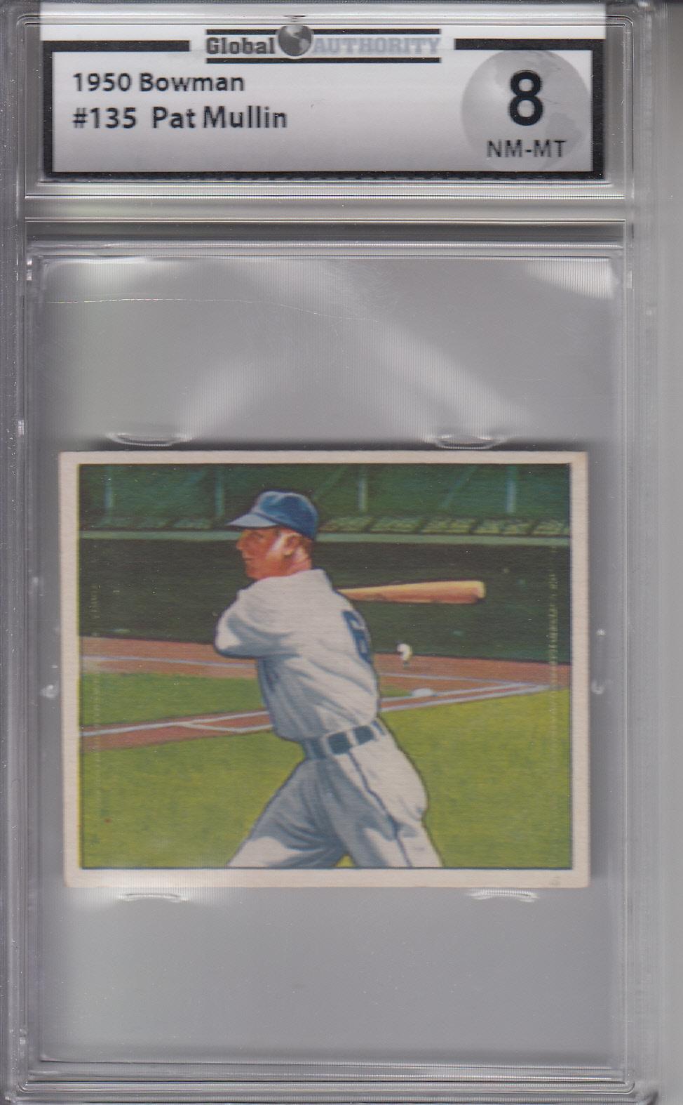 1950 Bowman #135 Pat Mullin TIGERS GAI 8 NM-MT Z19050