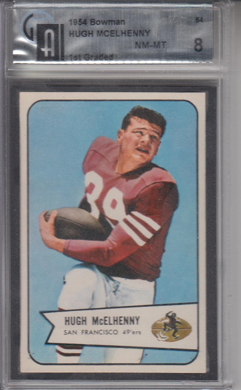 1954 Bowman #54 Hugh McElhenny 49ERS GAI 8 NM-MT Z19828