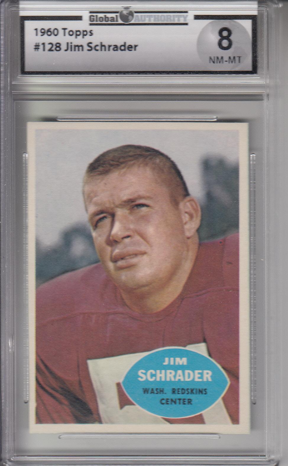 1960 Topps #128 Jim Schrader REDSKINS GAI 8 NM-MT Z20152