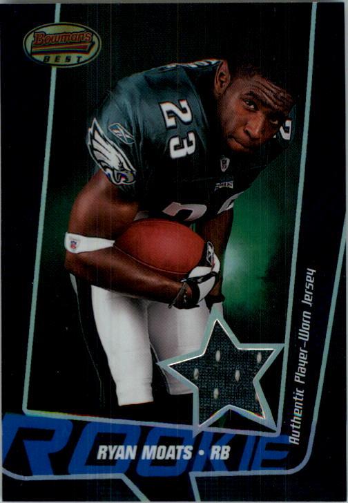 2005 Bowman's Best Blue #115 Ryan Moats JSY