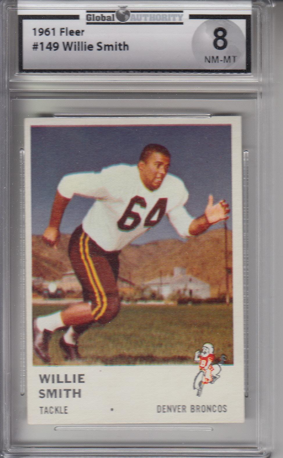 1961 Fleer #149 Willie Smith BRONCOS GAI 8 NM-MT Z20318
