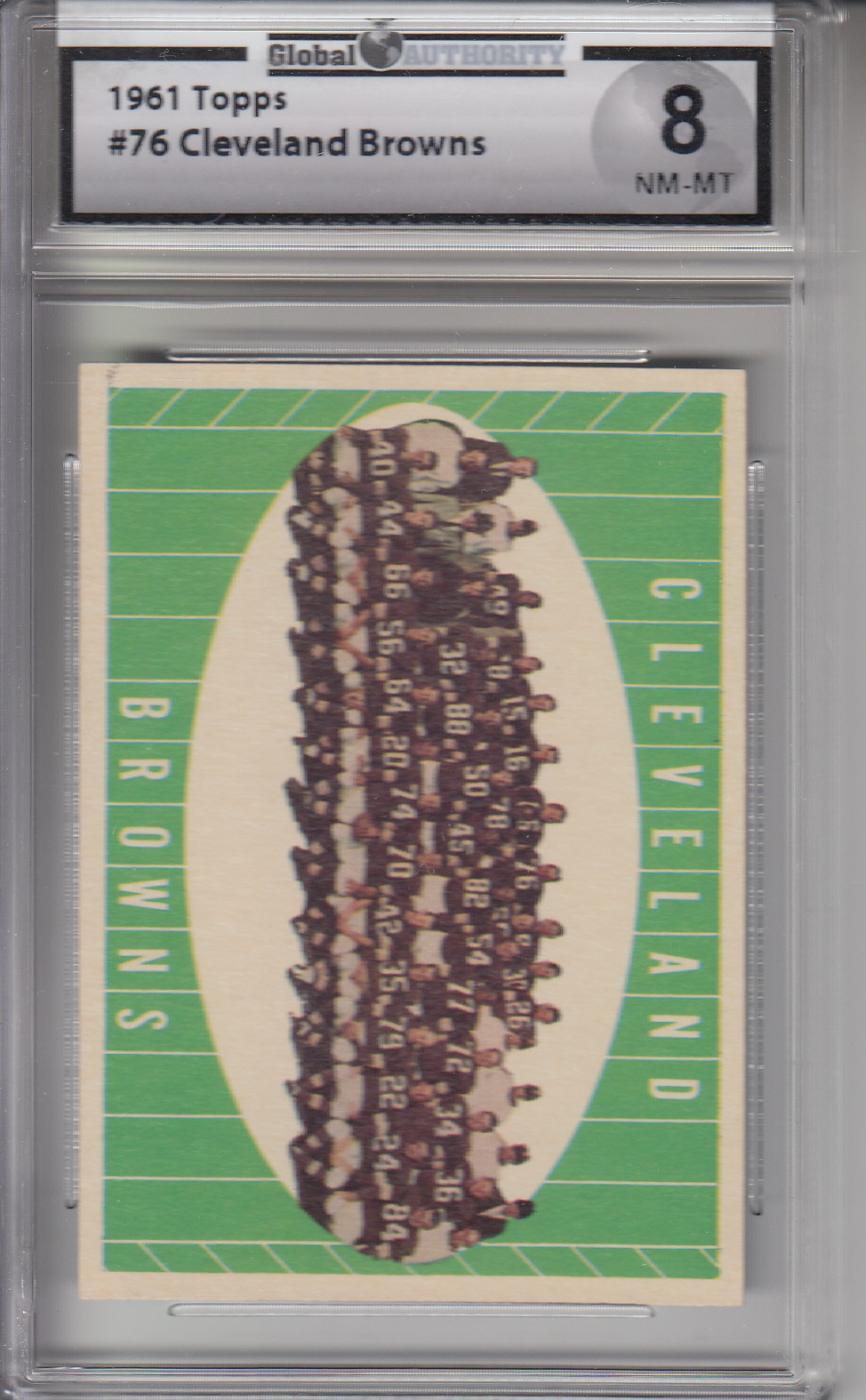 1961 Topps #76 Cleveland Browns BROWNS GAI 8 NM-MT Z20439