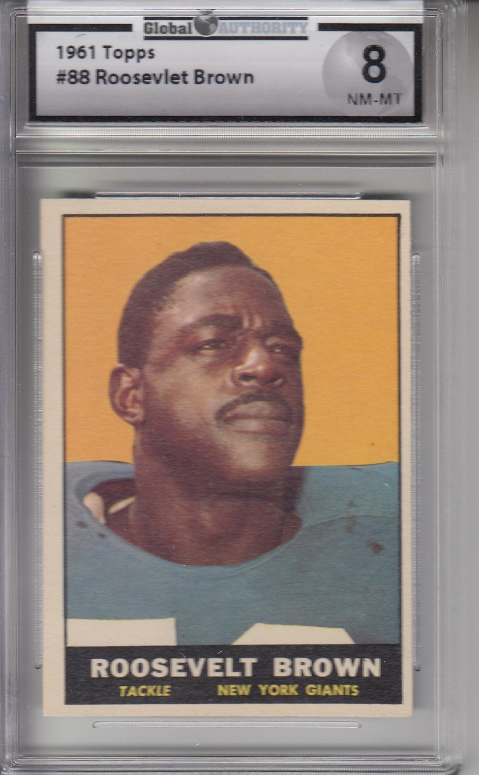 1961 Topps #88 Roosevelt Brown GIANTS GAI 8 NM-MT Z20443