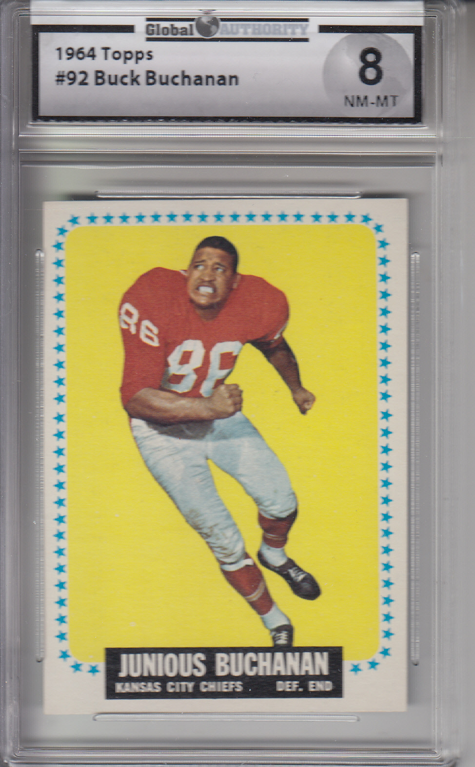 1964 Topps #92 Buck Buchanan CHIEFS GAI 8 NM-MT Z20643