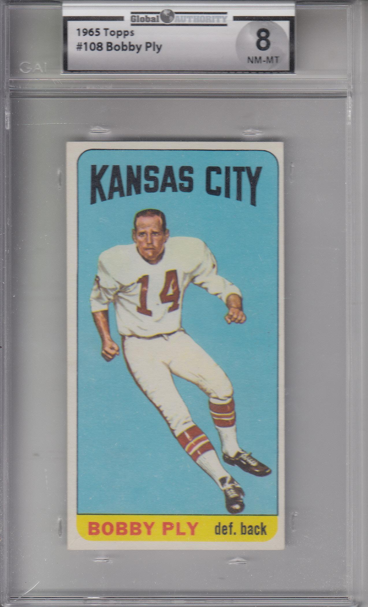 1965 Topps #108 Bobby Ply CHIEFS GAI 8 NM-MT Z20771