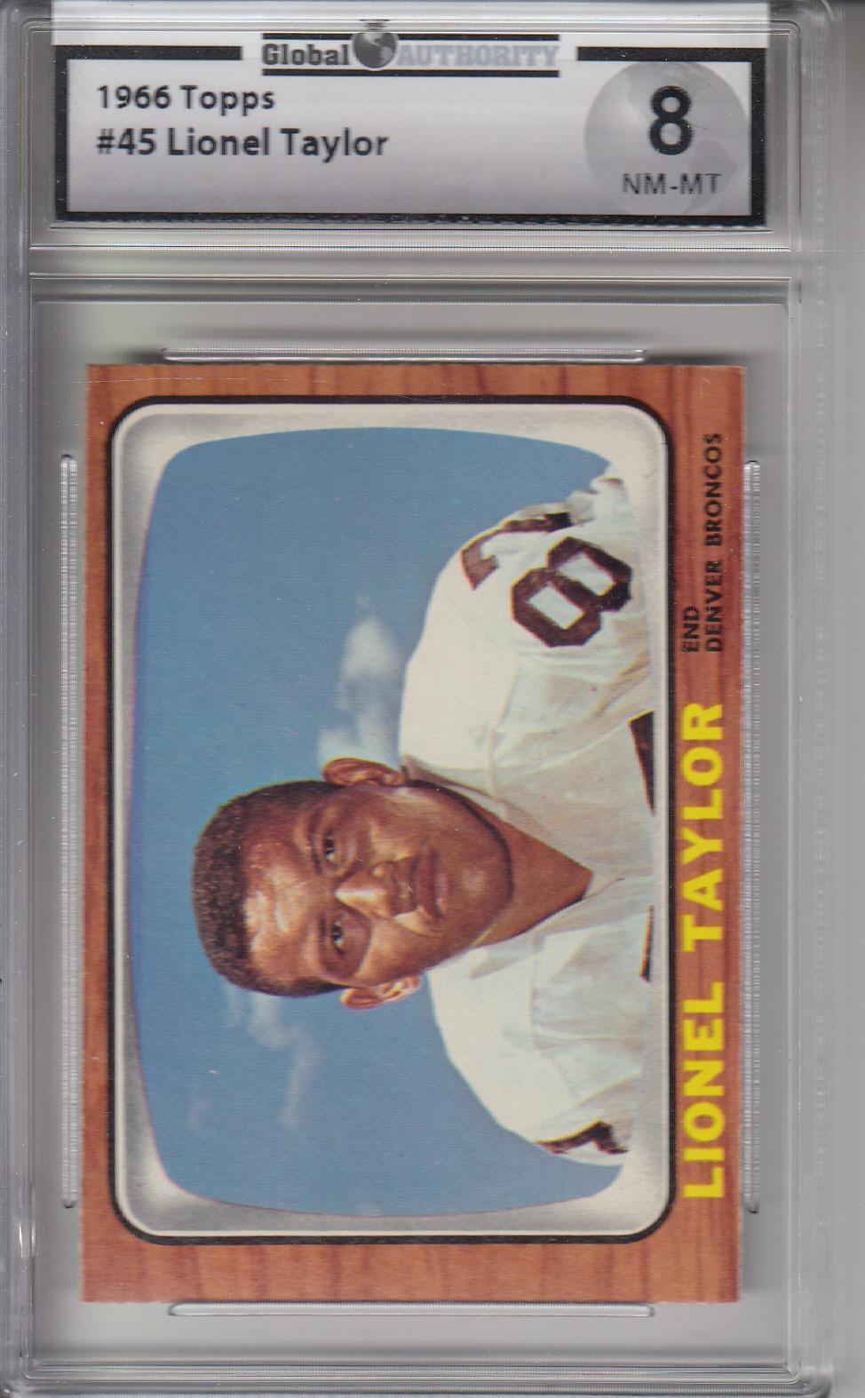 1966 Topps #45 Lionel Taylor BRONCOS GAI 8 NM-MT Z20809