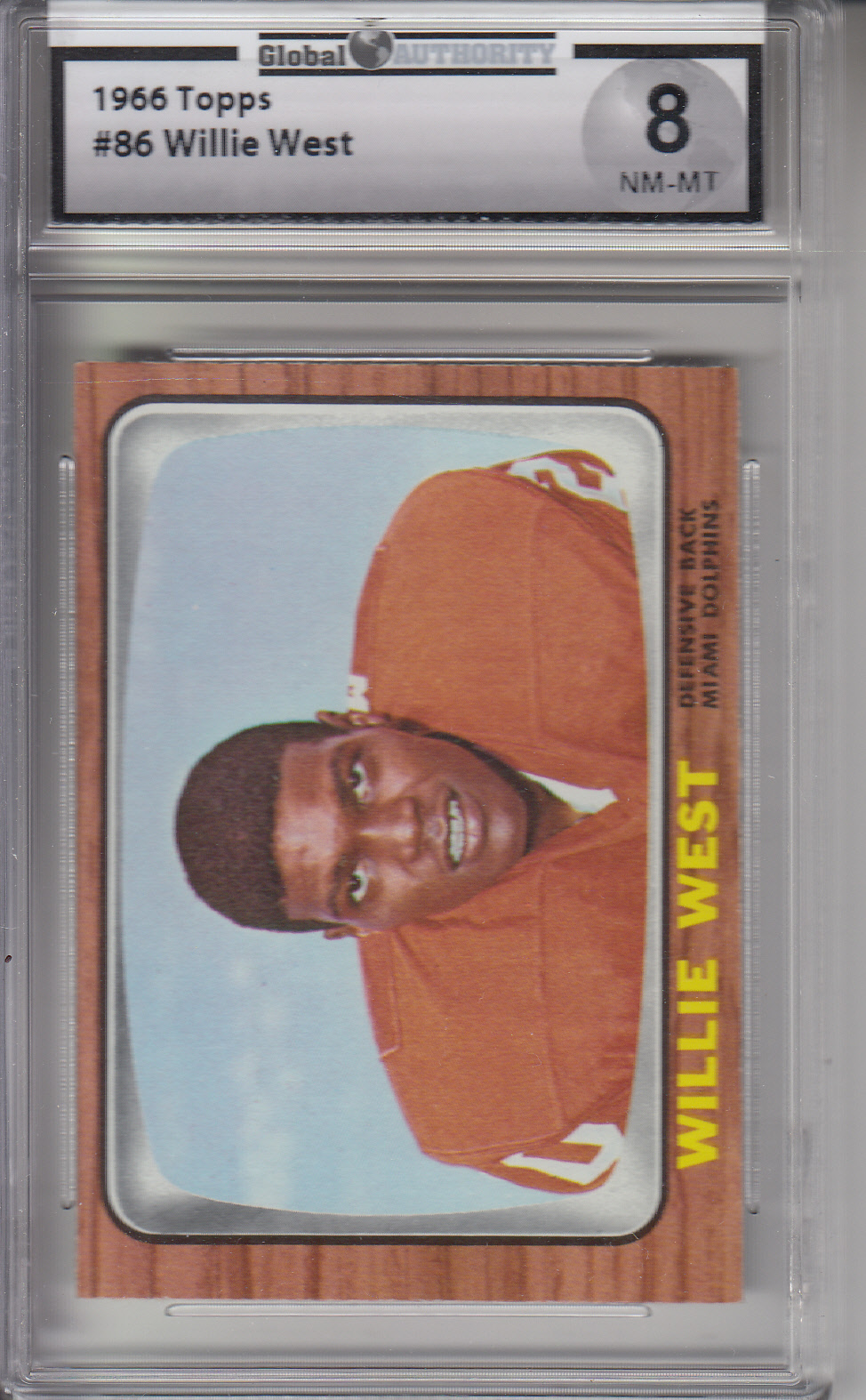 1966 Topps #86 Willie West DOLPHINS GAI 8 NM-MT Z20825