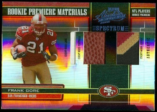 2005 Absolute Memorabilia Rookie Premiere Materials Triple Spectrum #217 Frank Gore