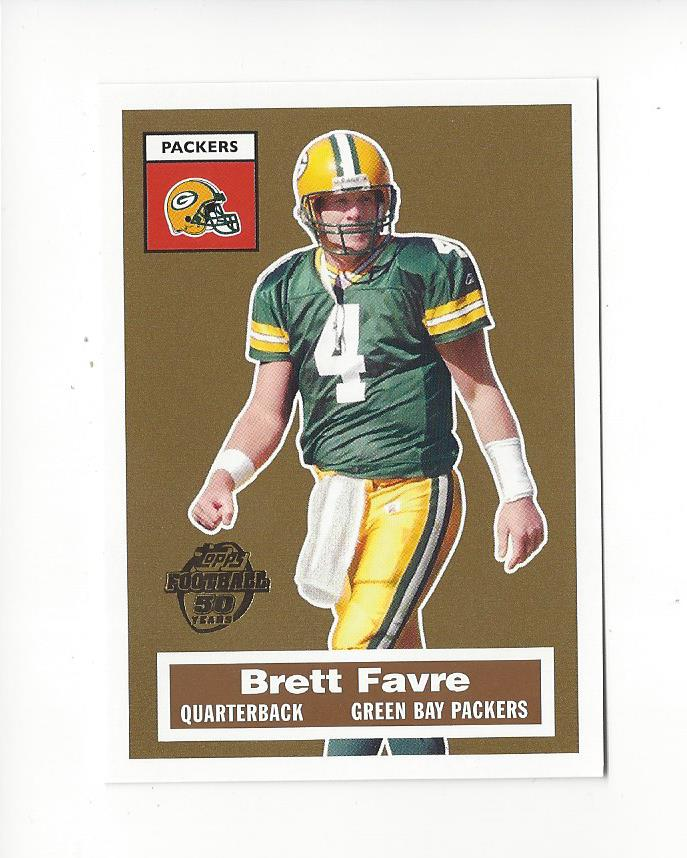 Leaves Are Turning And Brett Favre Is >> Details About 2005 Topps Turn Back The Clock 4 Brett Favre Packers