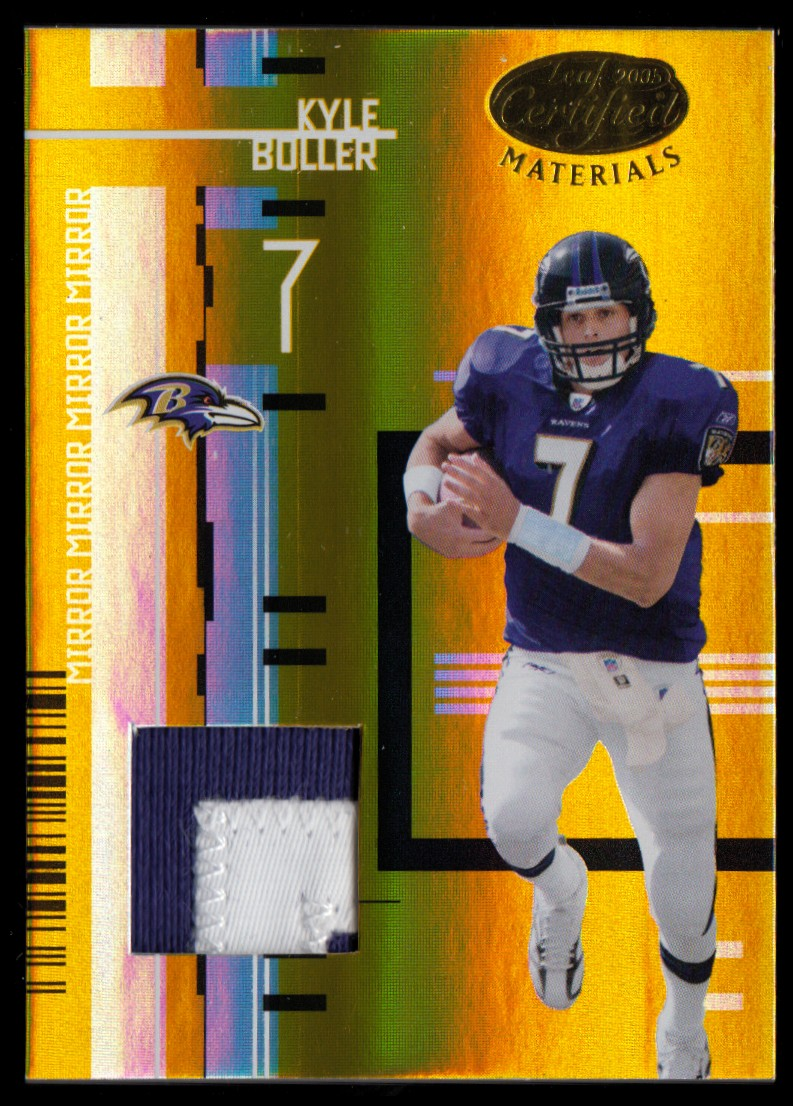 2005 Leaf Certified Materials Mirror Gold Materials #9 Kyle Boller