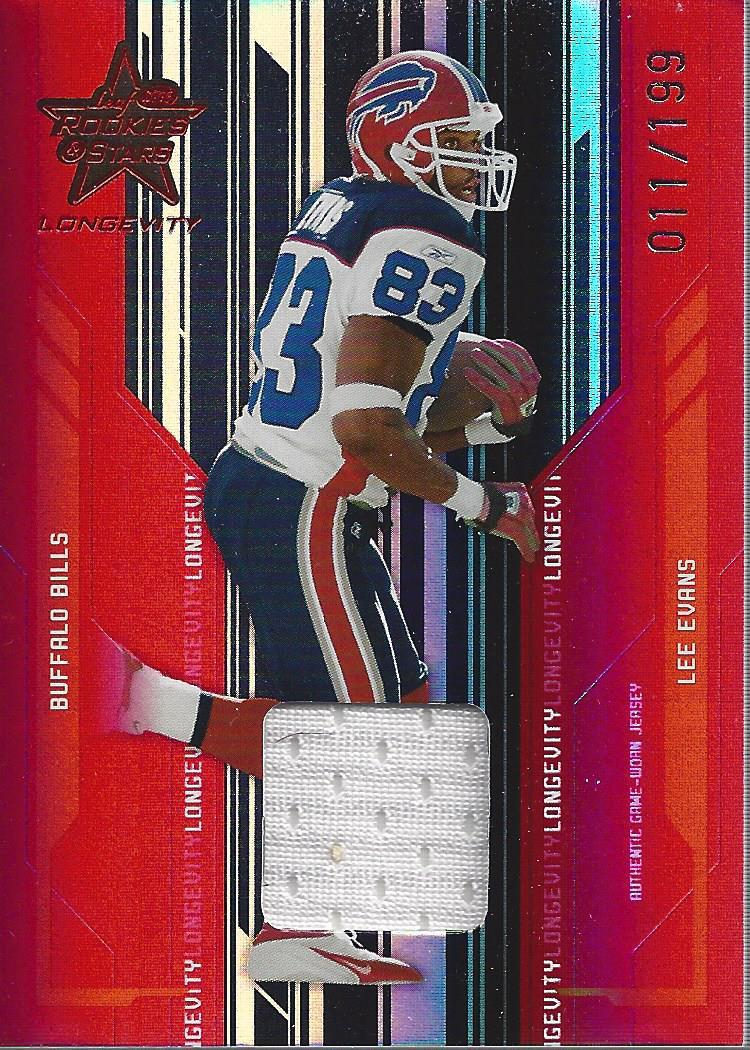 2005 Leaf Rookies and Stars Longevity Materials Ruby #12 Lee Evans/199