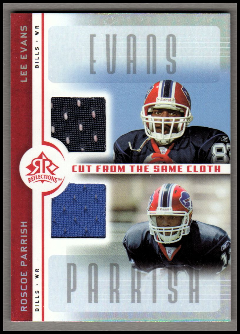 2005 Reflections Cut From the Same Cloth Red #CCEP Lee Evans/Roscoe Parrish