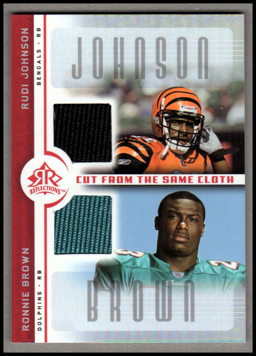 2005 Reflections Cut From the Same Cloth Red #CCJB Rudi Johnson/Ronnie Brown