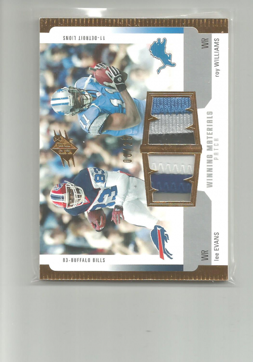 2005 SPx Winning Materials Patches #EW Lee Evans/Roy Williams