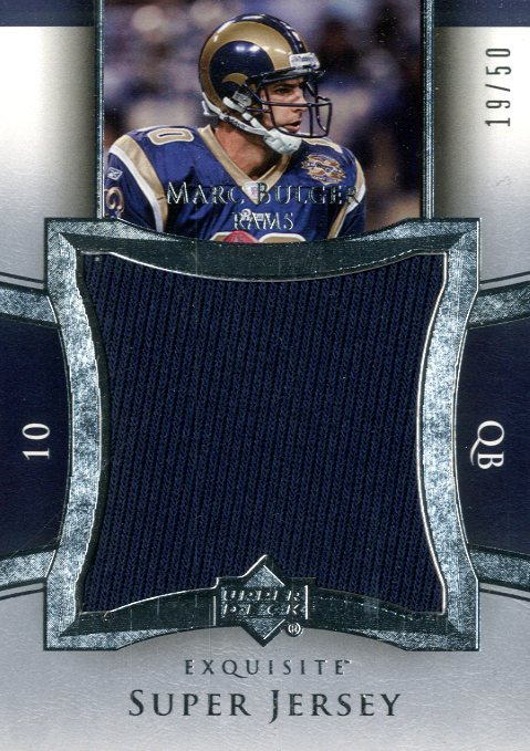 2005 Exquisite Collection Super Jersey Silver #SJMB Marc Bulger