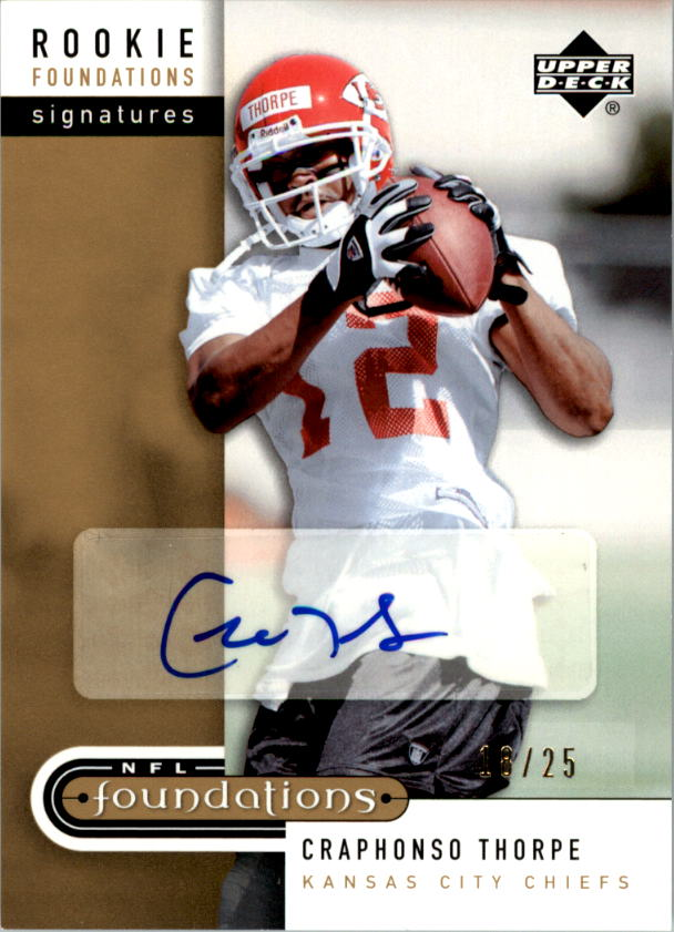 2005 Upper Deck Foundations Exclusive Gold #226 Craphonso Thorpe AU