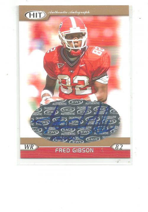 2005 SAGE HIT Autographs Gold #12 Fred Gibson