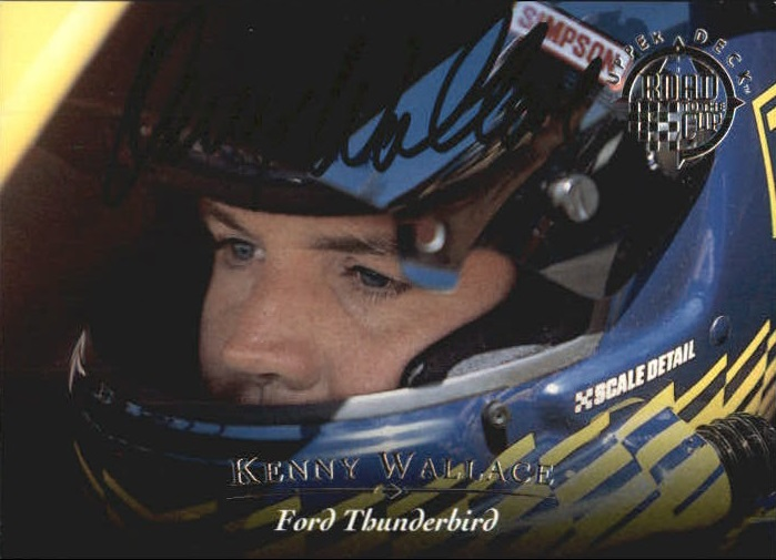 1996 Upper Deck Road To The Cup Autographs #H20 Kenny Wallace