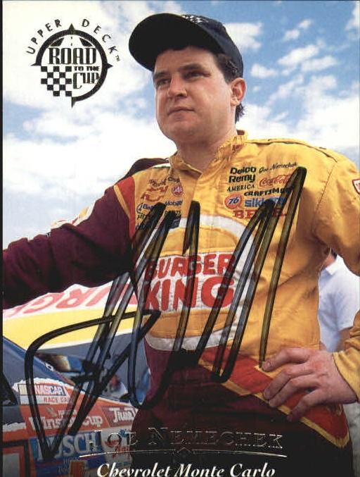 1996 Upper Deck Road To The Cup Autographs #H26 Joe Nemechek