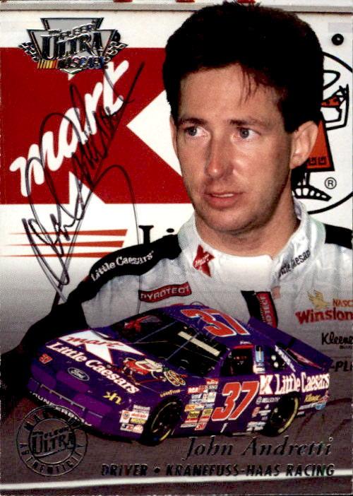1996 Ultra Autographs #1 John Andretti