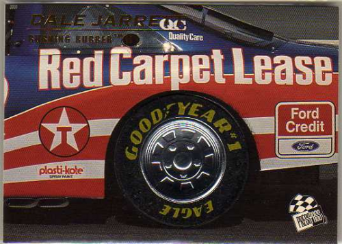 1996 Press Pass Premium Burning Rubber II #BR3 Dale Jarrett's Car