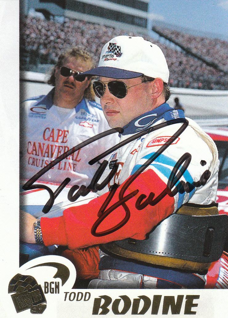 1997 Press Pass Autographs #31 Todd Bodine PPP/VIP