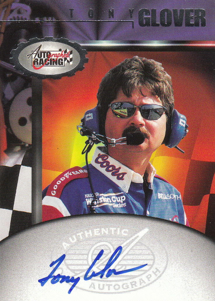 1997 Autographed Racing Autographs #15 Tony Glover