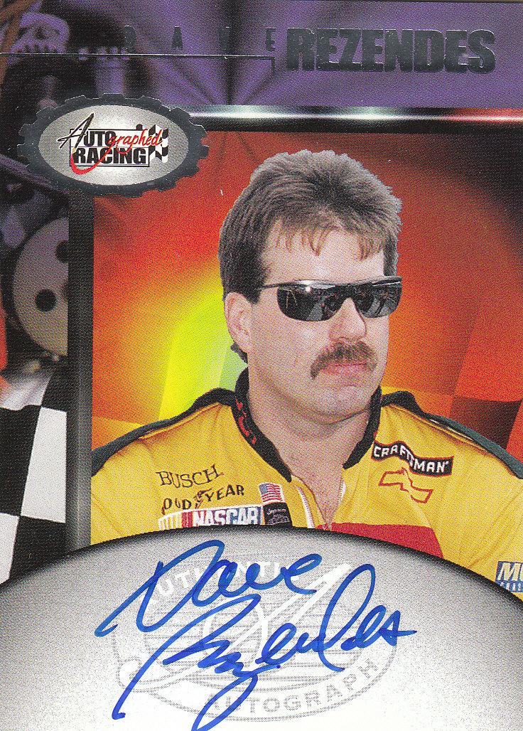 1997 Autographed Racing Autographs #47 Dave Rezendes