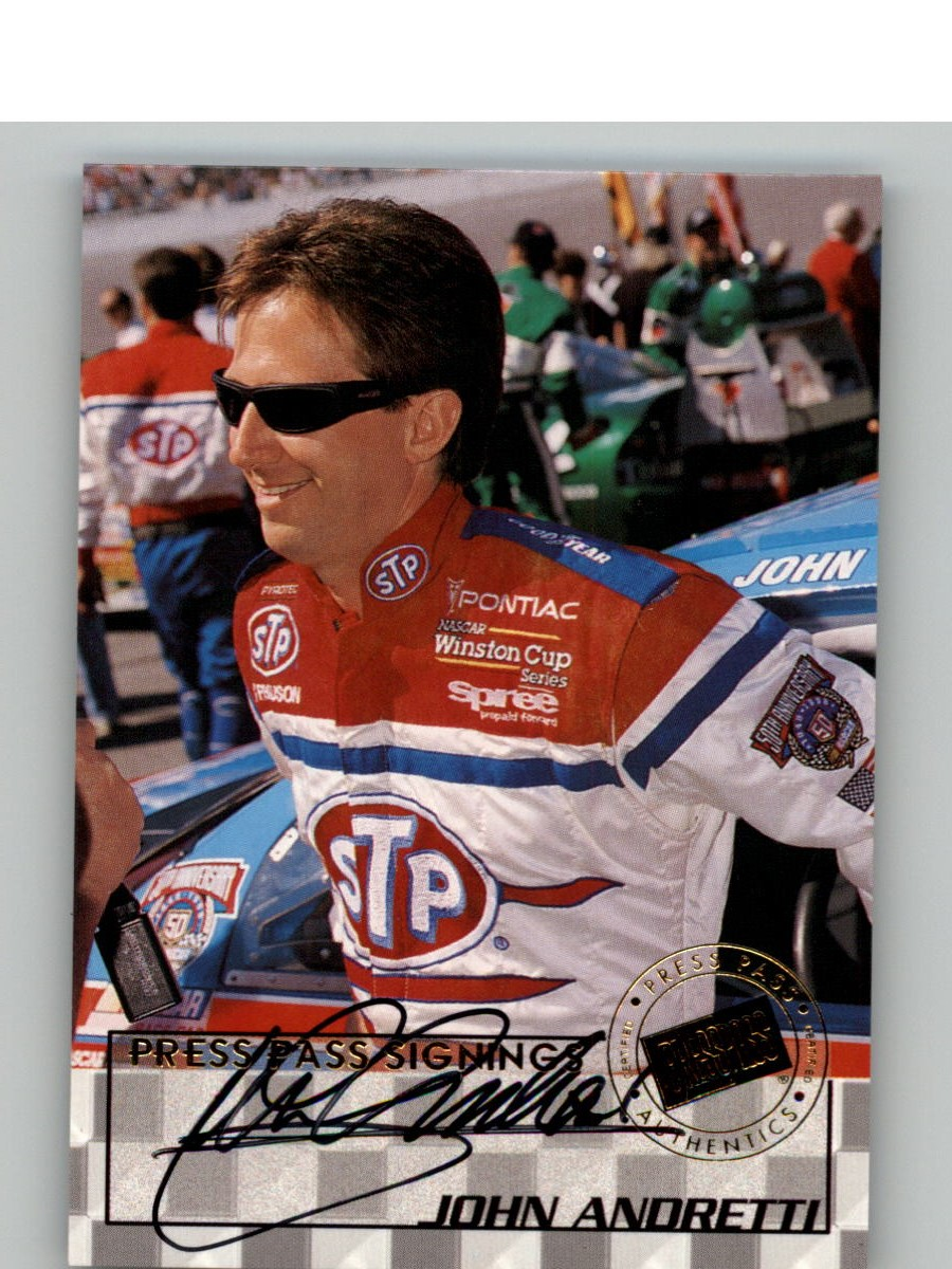 1998 Press Pass Signings #6 John Andretti/Press Pass Stealth/  VIP