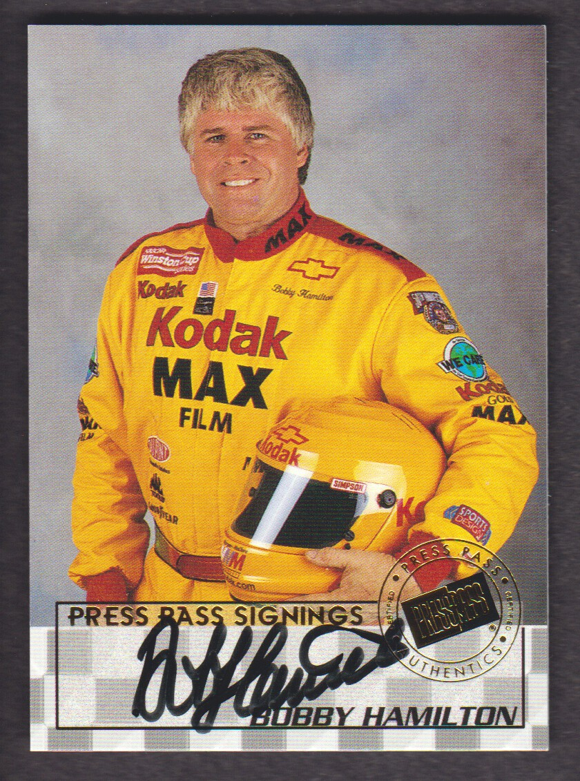 1998 Press Pass Signings #8 Bobby Hamilton/Press Pass Stealth/  VIP