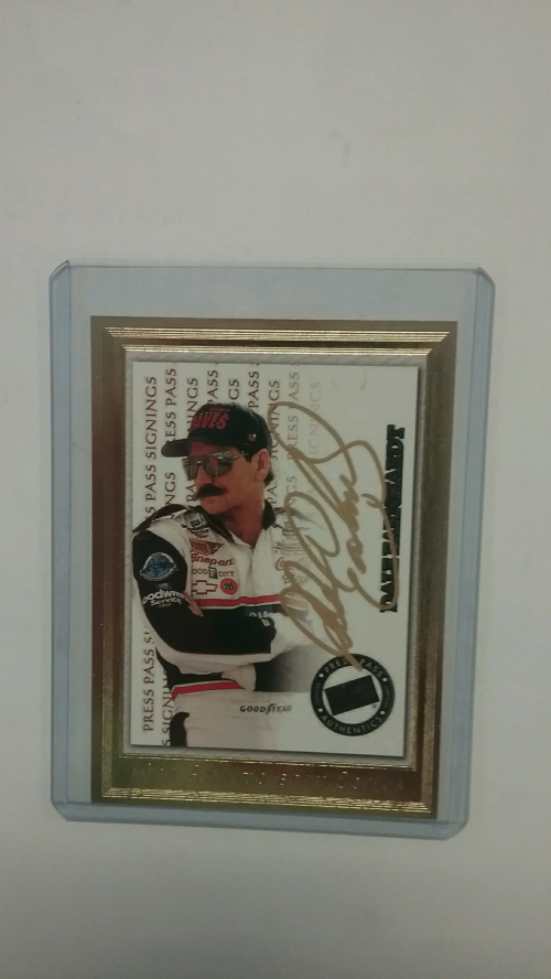 1999 Press Pass Signings Gold #3 Dale Earnhardt/100