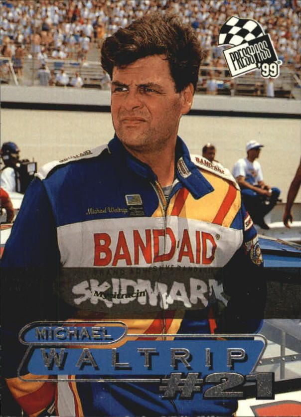 1999 Press Pass Skidmarks #51 Michael Waltrip