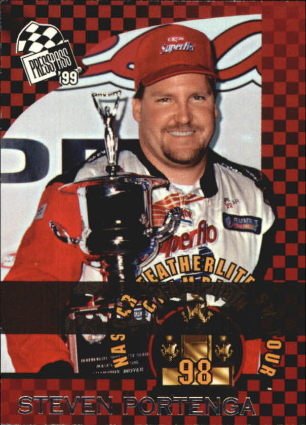 1999 Press Pass Skidmarks #78 Steve Portenga Champ