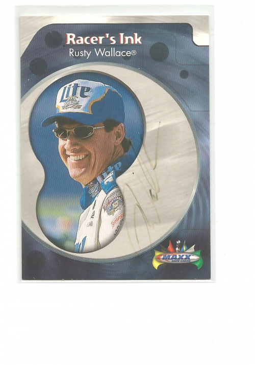 1999 Maxx Racer's Ink #RW Rusty Wallace
