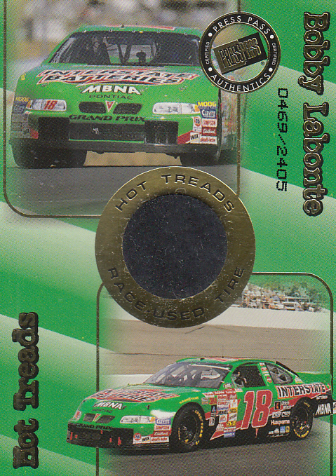 2001 Press Pass Hot Treads #HT1 Bobby Labonte/2405