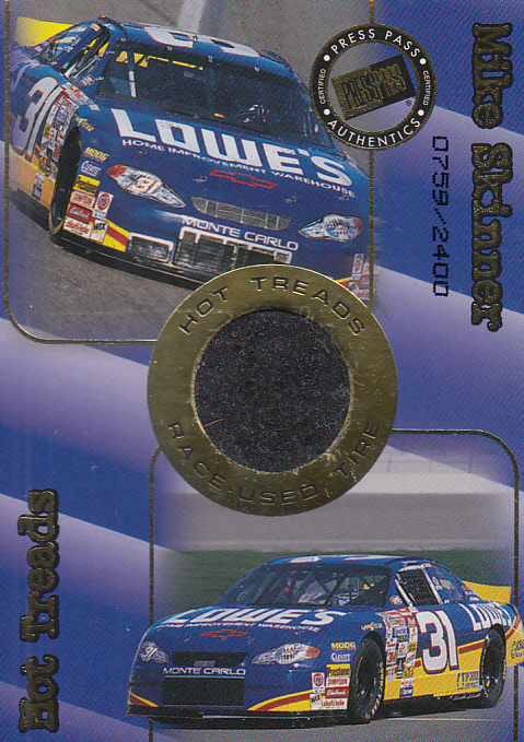 2001 Press Pass Hot Treads #HT4 Mike Skinner/2400