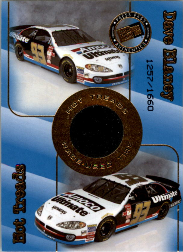 2001 Press Pass Hot Treads #HT15 Dave Blaney/1660