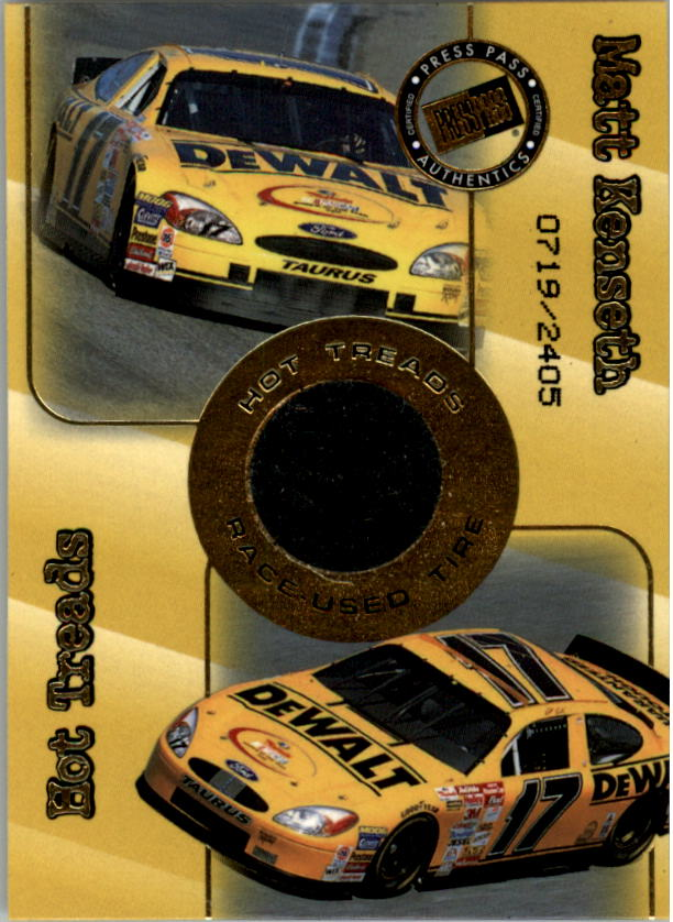 2001 Press Pass Hot Treads #HT18 Matt Kenseth/2405
