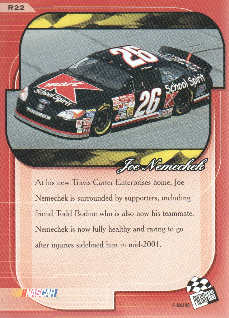 2002-Press-Pass-Premium-Parallels-NASCAR-Racing-Cards-Pick-From-List thumbnail 9