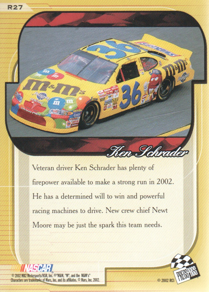 2002-Press-Pass-Premium-Parallels-NASCAR-Racing-Cards-Pick-From-List thumbnail 13