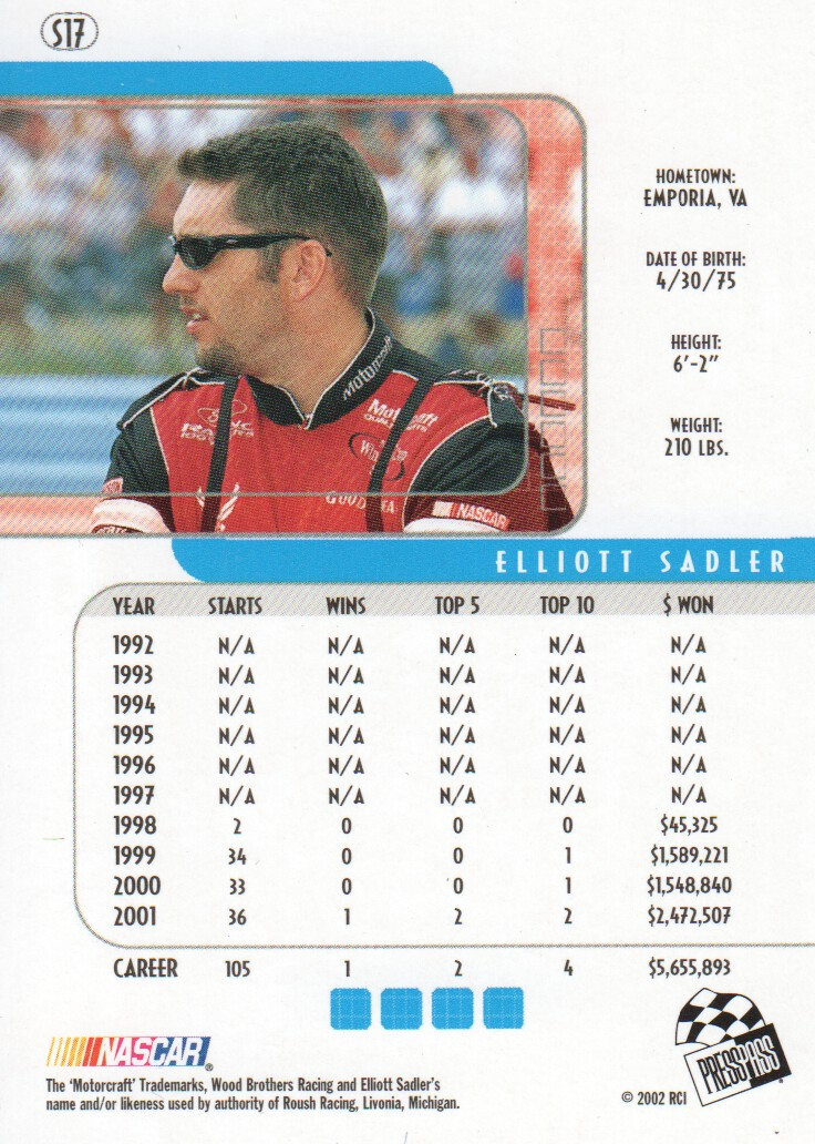 2002-Press-Pass-Eclipse-Parallels-NASCAR-Racing-Cards-Pick-From-List thumbnail 7