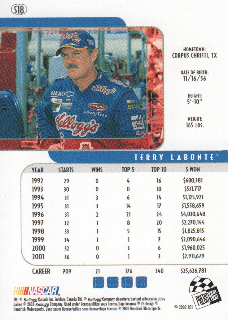 2002-Press-Pass-Eclipse-Parallels-NASCAR-Racing-Cards-Pick-From-List thumbnail 9