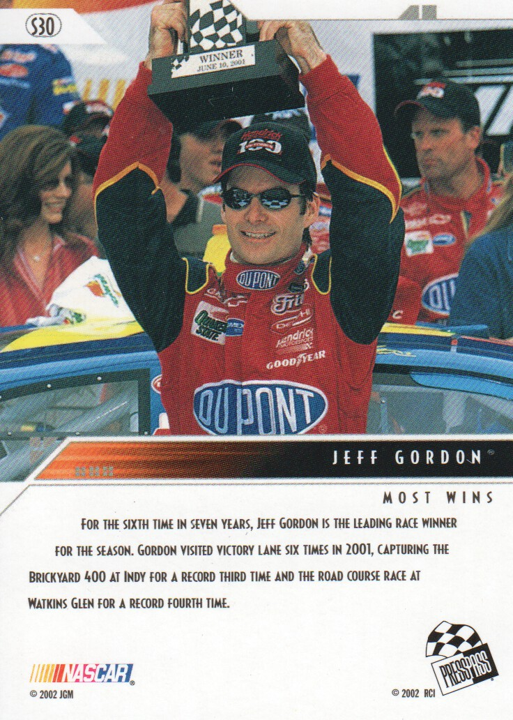 2002-Press-Pass-Eclipse-Parallels-NASCAR-Racing-Cards-Pick-From-List thumbnail 13